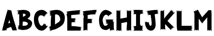 Cliffhanger Font UPPERCASE