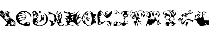 Climbats Font LOWERCASE