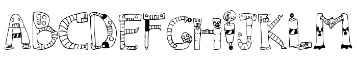 Clink Clank Font LOWERCASE