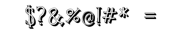 Clink Outlined Font OTHER CHARS