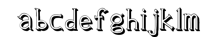 Clink Outlined Font LOWERCASE
