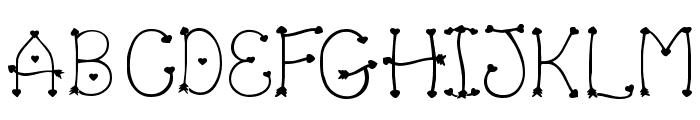Clipz Cupid Font UPPERCASE