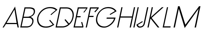 Clocker Italic Font UPPERCASE