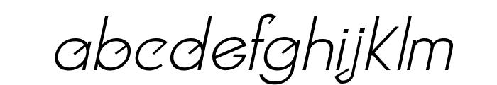 Clocker Italic Font LOWERCASE