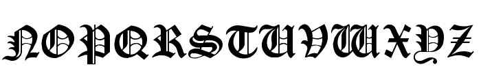 Cloister Black Light Font UPPERCASE