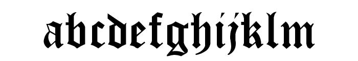 Cloister Black Light Font LOWERCASE