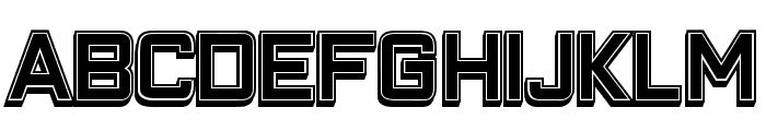 Closeness Outline Filled Regular Font LOWERCASE