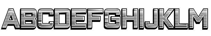 Closeness Outline Gradient Regular Font UPPERCASE