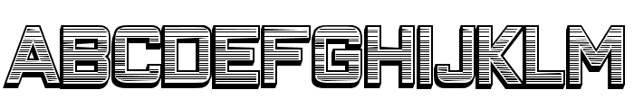 Closeness Outline Gradient Regular Font LOWERCASE