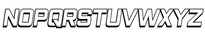 Closeness Outline Italic Font UPPERCASE