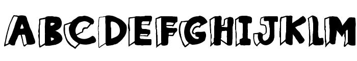 Clothes Peg Font UPPERCASE