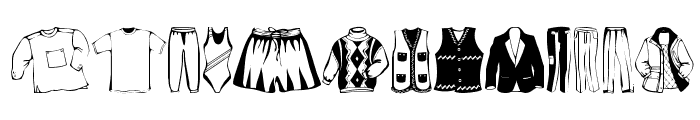 Clothes Font UPPERCASE
