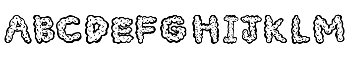 Cloudy Font UPPERCASE