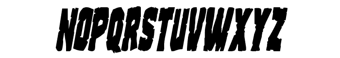 Clubber Lang Condensed Italic Font LOWERCASE