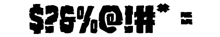 Clubber Lang Expanded Font OTHER CHARS