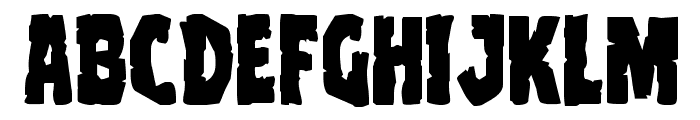 Clubber Lang Expanded Font LOWERCASE
