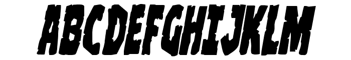 Clubber Lang Italic Font UPPERCASE