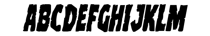 Clubber Lang Italic Font LOWERCASE