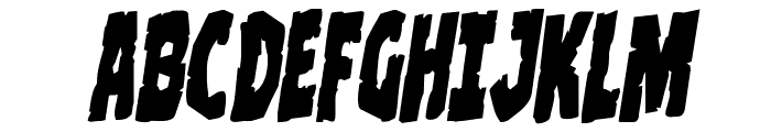 Clubber Lang Rotalic Font UPPERCASE