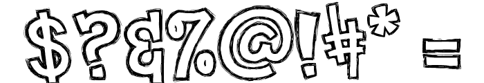 clementine sketch Font OTHER CHARS