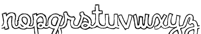 clementine sketch Font LOWERCASE