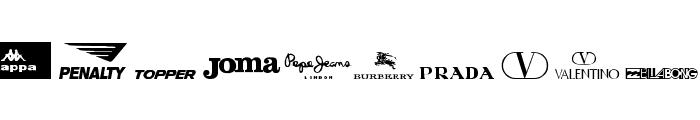 clothing logos tfb Font LOWERCASE
