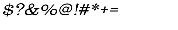 Clarendon Light Extra Wide Oblique Font OTHER CHARS