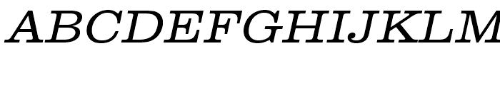 Clarendon Light Extra Wide Oblique Font UPPERCASE