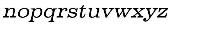 Clarendon Light Extra Wide Oblique Font LOWERCASE