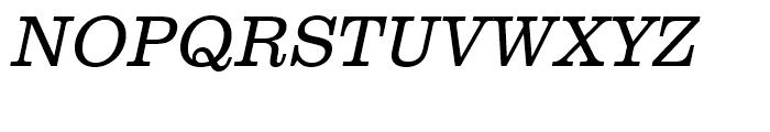 Clarendon Light Narrow Oblique Font UPPERCASE