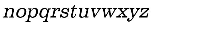 Clarendon Light Narrow Oblique Font LOWERCASE