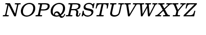 Clarendon Light Oblique Font UPPERCASE