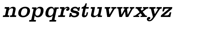 Clarendon Regular Wide Oblique Font LOWERCASE