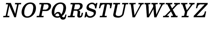 Clarendon Text Italic Font UPPERCASE