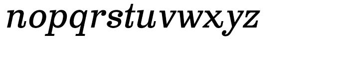 Clarendon Text Italic Font LOWERCASE