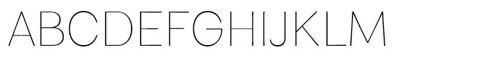Clasica Sans Thin Font UPPERCASE