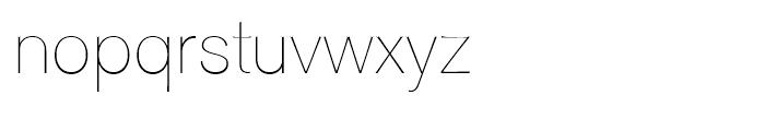 Clasica Sans Thin Font LOWERCASE