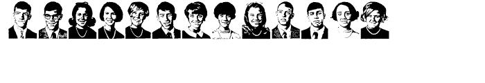 Class of 1964 Regular Font UPPERCASE