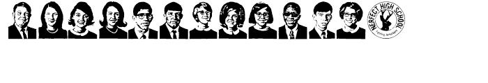 Class of 1964 Regular Font LOWERCASE