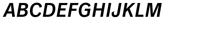 Classic Grotesque Semi Bold Italic Font UPPERCASE