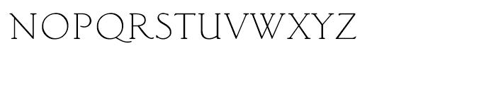 Classic Roman Light Font LOWERCASE