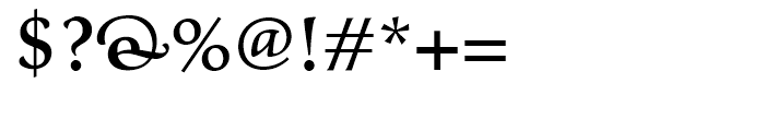Classica Gallic Medium Font OTHER CHARS