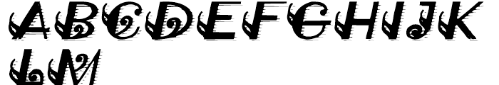 Classical Engraved Font UPPERCASE