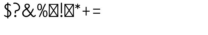 Claude Sans Regular Font OTHER CHARS