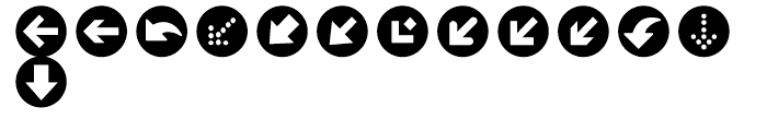 Click Bits Arrow Bullets 1 Font LOWERCASE