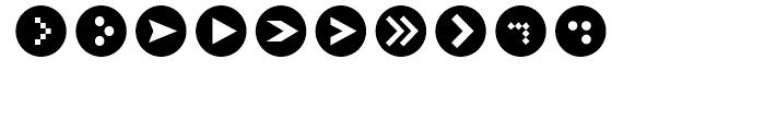 Click Bits Arrow Bullets 2 Font OTHER CHARS
