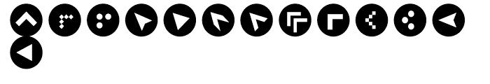 Click Bits Arrow Bullets 2 Font UPPERCASE
