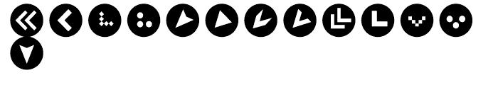 Click Bits Arrow Bullets 2 Font LOWERCASE