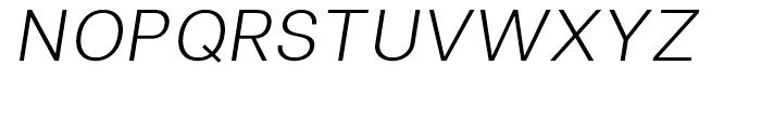 Clinica Light Italic Font UPPERCASE