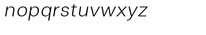 Clinica Light Italic Font LOWERCASE